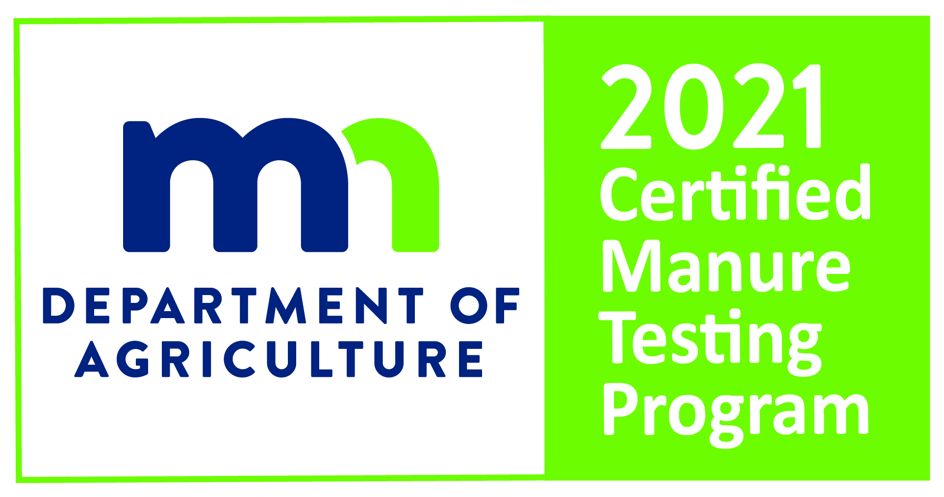 Minnesota Department of Agriculture 2021          Certified Manure Testing Program.