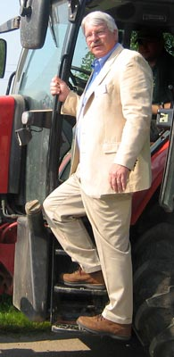 Commissioner Troxler from the tractor